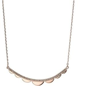 Kate Spade Rose Gold Scalloped Necklace